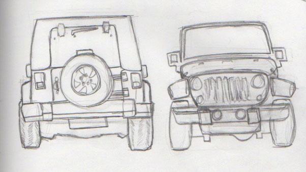 Hard Surface Model Jeep Wrangler Rubicon Liz Feldstein